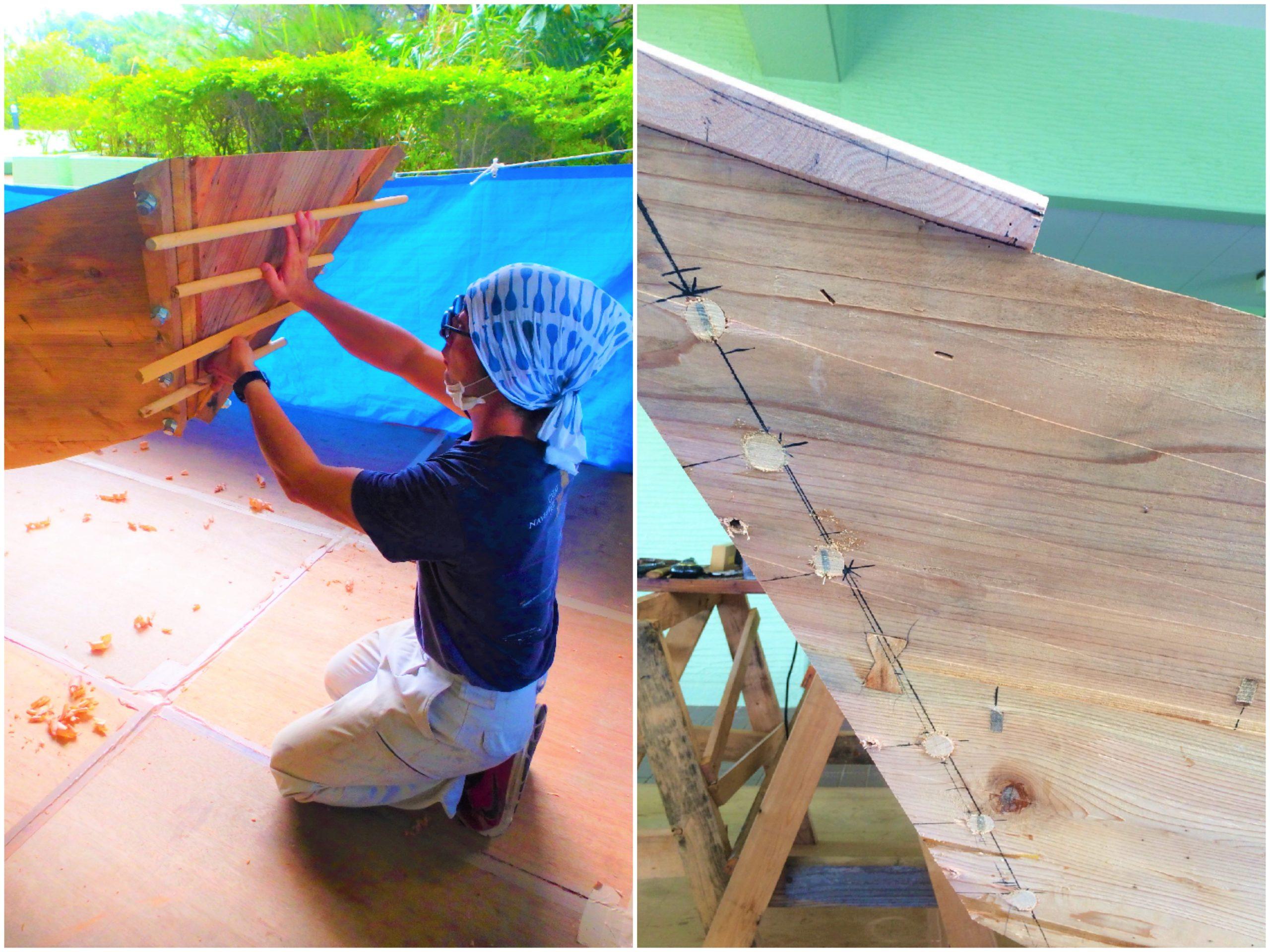 帆かけサバニ造船